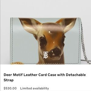 Burberry deer leather card case